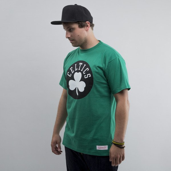 Mitchell & Ness koszulka Boston Celtics green Black and White Logo Traditional