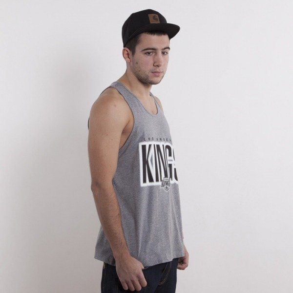 Mitchell & Ness koszulka Los Angeles Kings heather grey tank top Retro Blur
