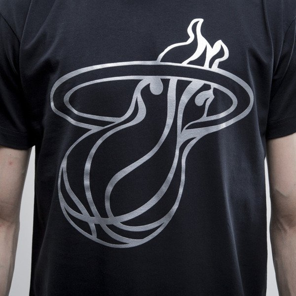 Mitchell & Ness koszulka Miami Heat black Metallic Silver Center