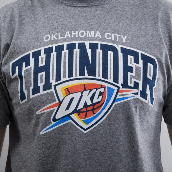 Mitchell & Ness koszulka Oklahoma City Thunder grey heather Team Arch