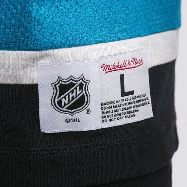 Mitchell & Ness koszulka San Jose Sharks Longsleeve off white Changing on the Fly