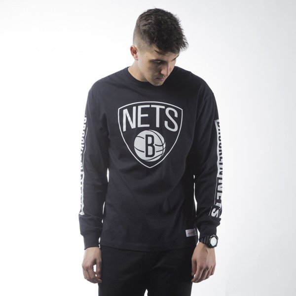 Mitchell & Ness koszulka longsleeve Brooklyn Nets black FREE THROW