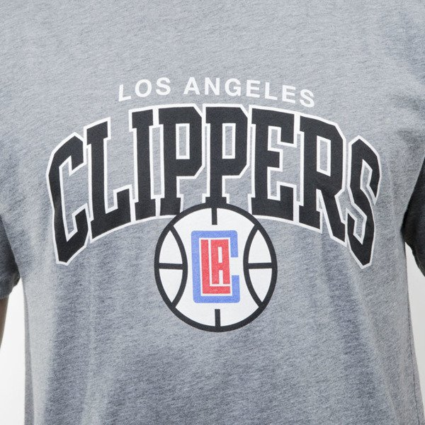 Mitchell & Ness koszulka t-shirt Los Angeles Clippers grey heather TEAM ARCH TAILORED
