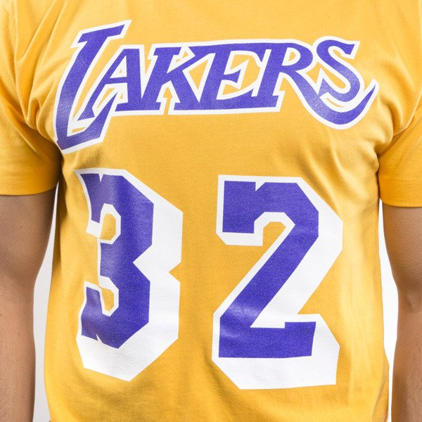 Mitchell & Ness koszulka t-shirt Los Angeles Lakers yellow Player Name & Number Traditional
