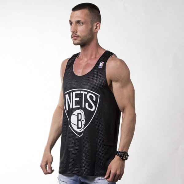 Mitchell & Ness koszulka tank top Brooklyn Nets white / black REVERSE MESH