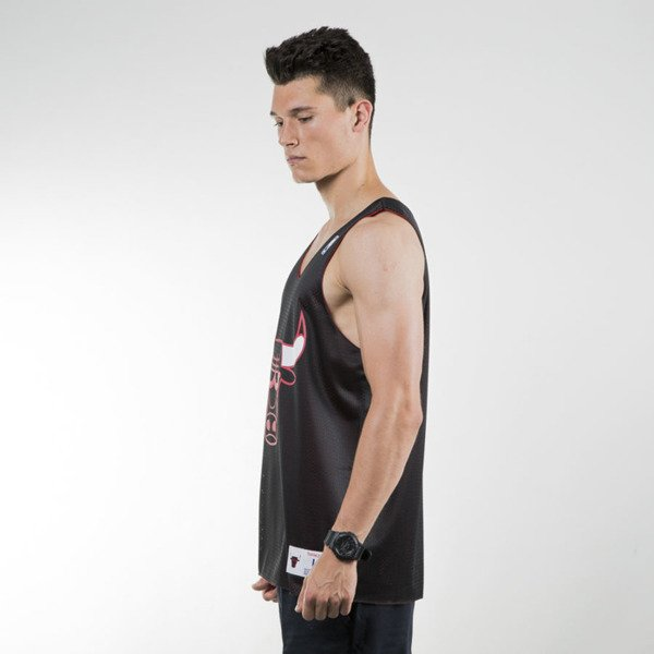 Mitchell & Ness koszulka tank top Chicago Bulls black / red REVERSE MESH