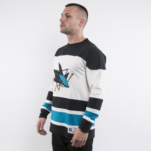 Mitchell & Ness longsleeve San Jose Sharks off white Changing on the Fly