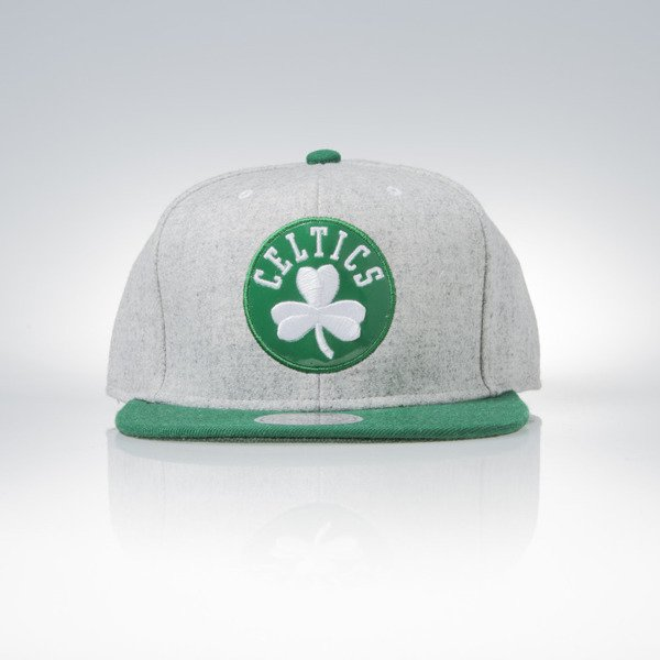 Mitchell & Ness snapback czapka Boston Celtics grey heather / green Melange Flannel EU912
