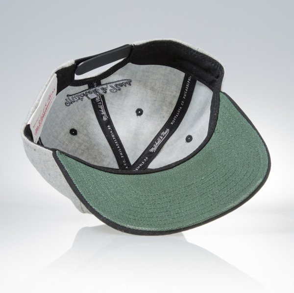 Mitchell & Ness snapback czapka M&N Own Brand grey heather / black Melange Flannel EU912