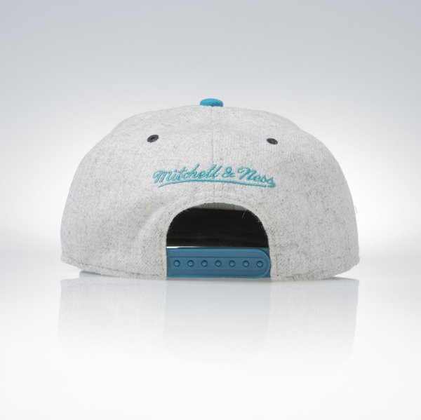 Mitchell & Ness snapback czapka San Jose Sharks grey heather / teal Melange Flannel EU912