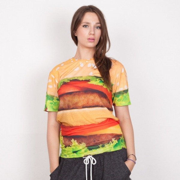 Mr GUGU t-shirt Hamburger multicolor
