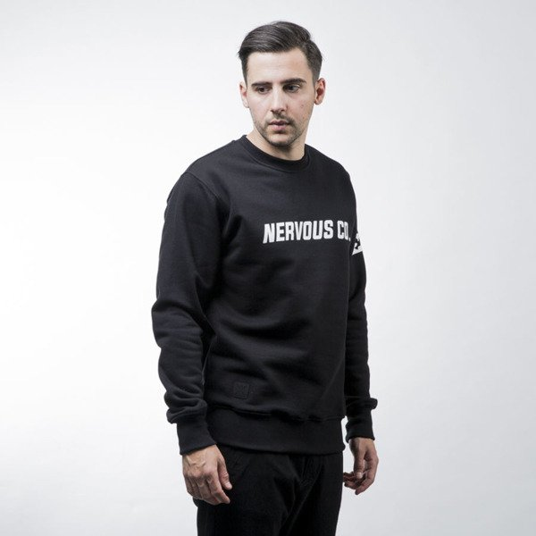 Nervous bluza sweatshirt CO crewneck black