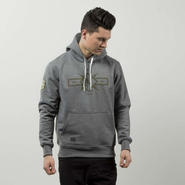 Nervous bluza sweatshirt Hood Forces grey