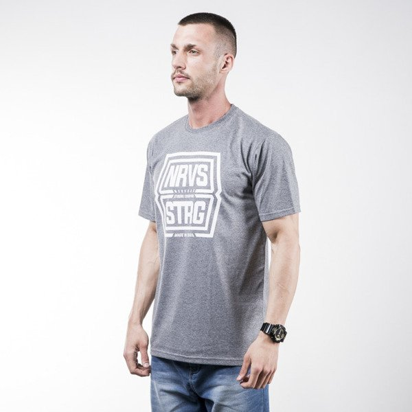 Nervous t-shirt koszulka Shield grey