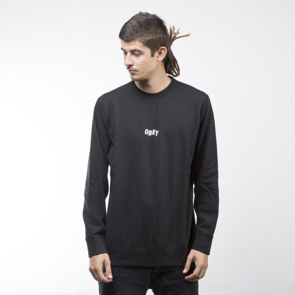 Obey bluza sweatshirt Jumble Bars Crew black