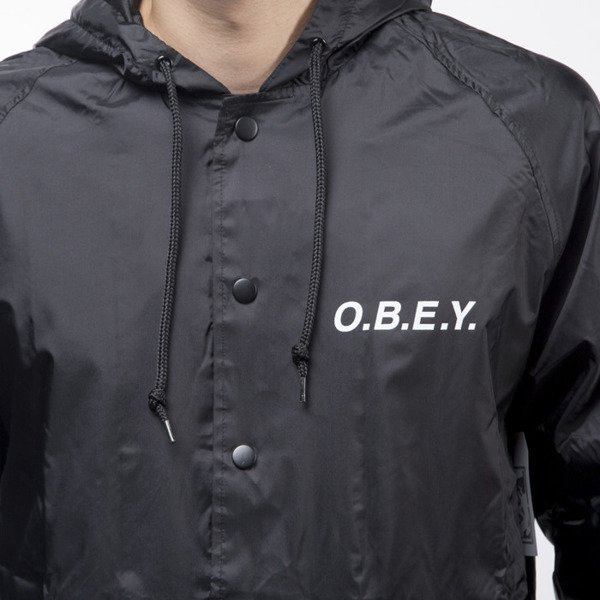 Obey kurtka jacket O.B.E.Y. black