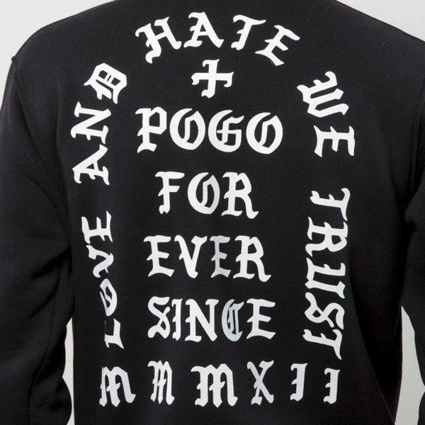 POGO bluza Crewneck Love Hate black