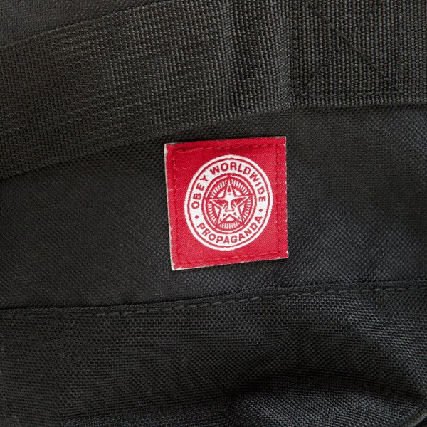 Plecak Obey Revolt Red Rolltop bag black