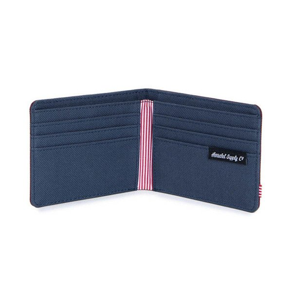 Portfel Herschel Roy  Wallet wine / navy (10069-00747)