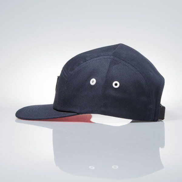 Prosto Klasyk czapka 5panel Fatcap Shield navy