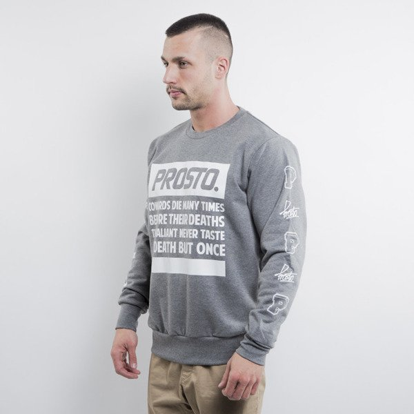 Prosto bluza Sweatshirt Shakespeare crewneck heather grey