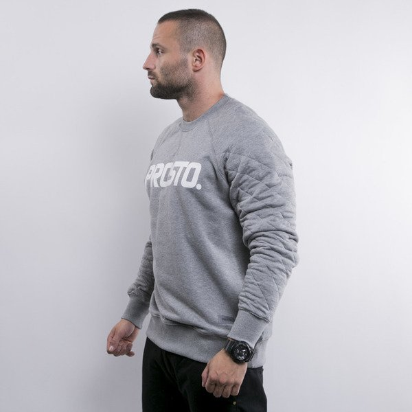 Prosto bluza crewneck KL Sweatshirt Broad heather grey