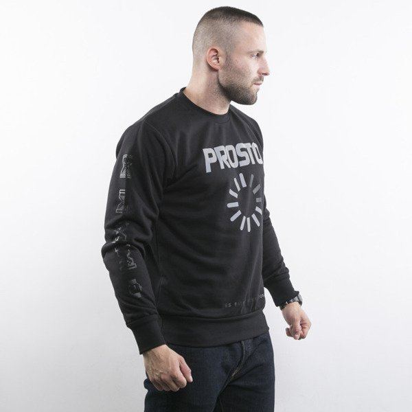 Prosto bluza crewneck P Sweatshirt Time Rules black