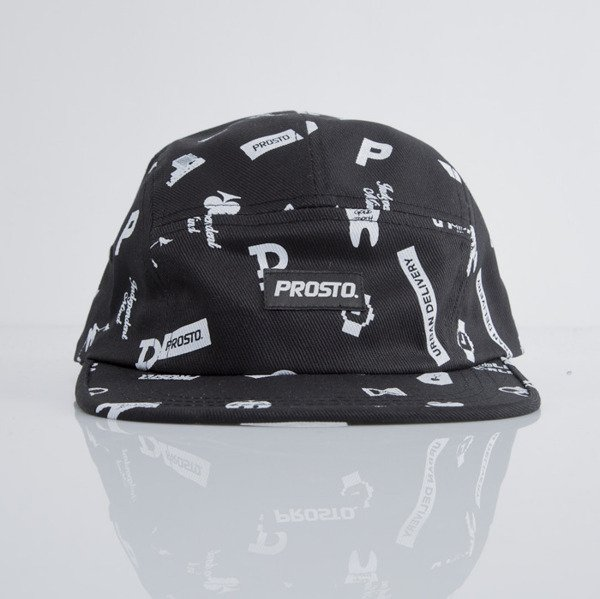 Prosto czapka 5-panel P Fatcap Pattern black