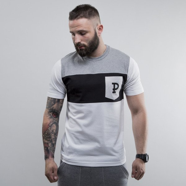 Prosto koszulka KL T-shirt Choice hether grey / black / white