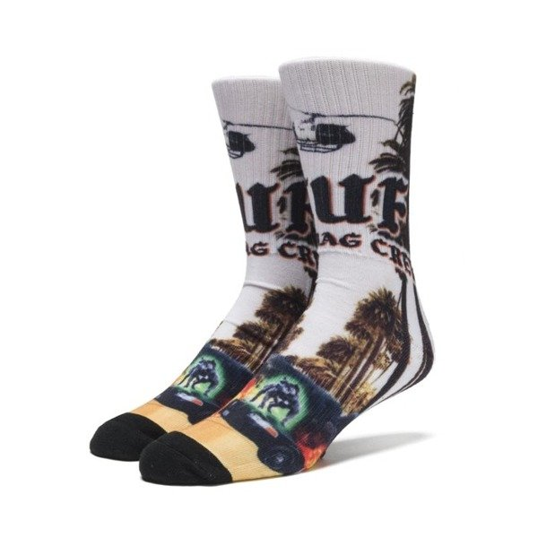 Skarpety HUF Block Is Hot Crew Socks black