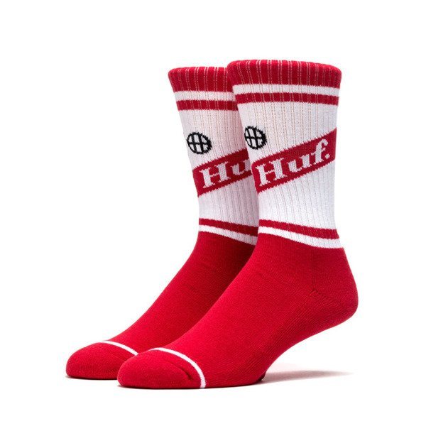 Skarpety HUF Can Crew Sock red
