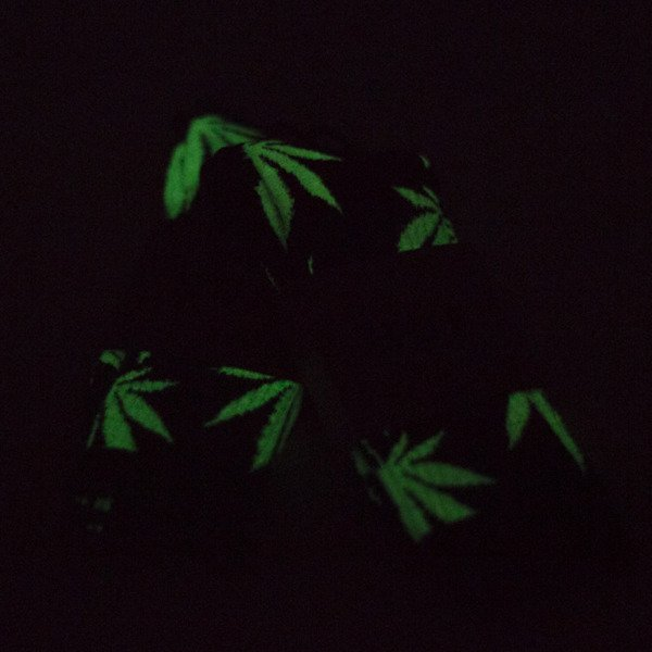 Skarpety HUF Plantlife Crew Sock Glow In The Dark white