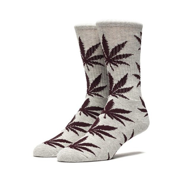 Skarpety Huf Plantlife Crew Sock grey heather / mahogany