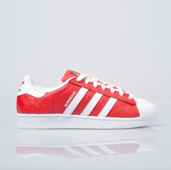 Sneakers Buty Adidas Originals Superstar Animal red / white (S75158)