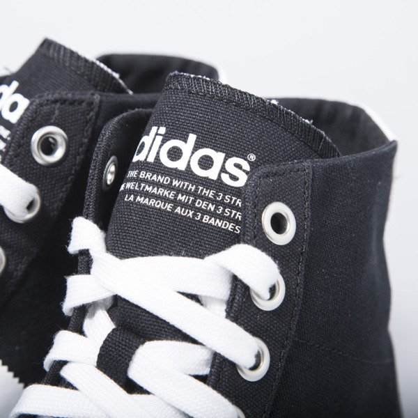 Sneakers buty Adidas Originals CourtVantage Mid  black / white (S79303)
