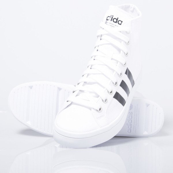 Sneakers buty Adidas Originals CourtVantage Mid  white / black (S78792)