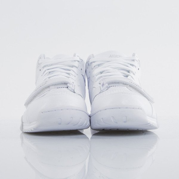 Sneakers buty Nike AIR Trainer 1 MID white / white - pure platinum (317554-102)