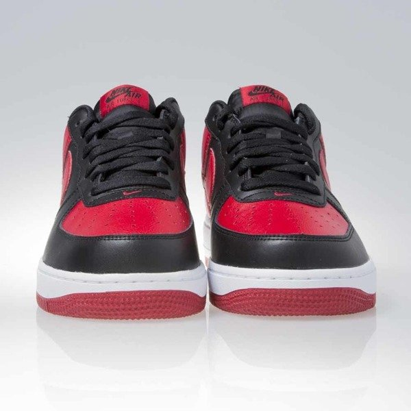 Sneakers buty Nike Air Force 1 Low black / gym red-white (820266-009)