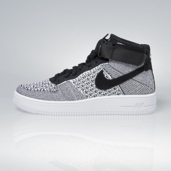 Sneakers buty Nike Air Force 1 Ultra Flyknit Mid black / black-white 817420-005