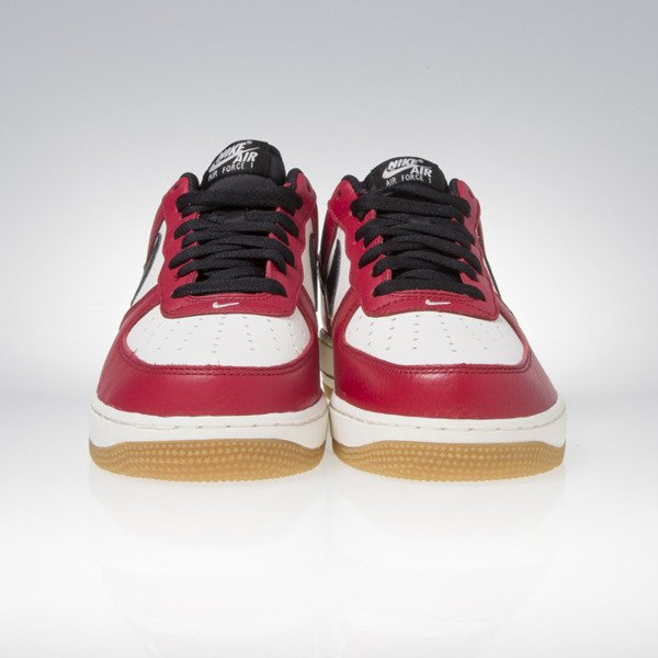 Sneakers buty Nike Air Force 1 gym red / black gum light brown 820266-600