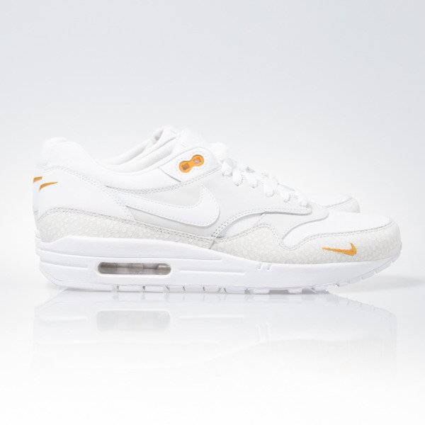 Sneakers buty Nike Air Max 1 PRM white / white-kumquat (512033-110)