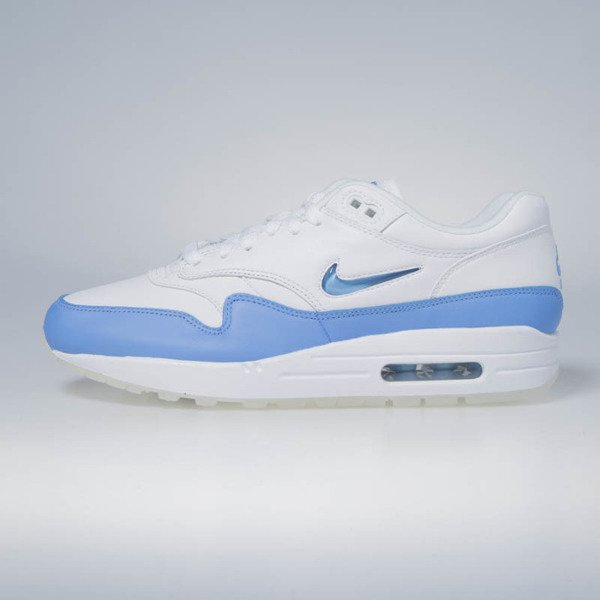 517b00917f5e ... Sneakers buty Nike Air Max 1 Premium SC white   university blue 918354-102  ...