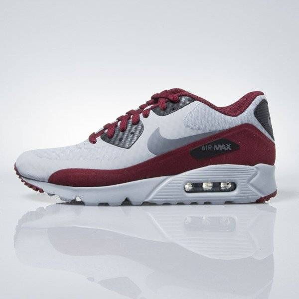 Sneakers buty Nike Air Max 90 Ultra Essential wolf grey / dk grey-black-tm rd (819474-012)