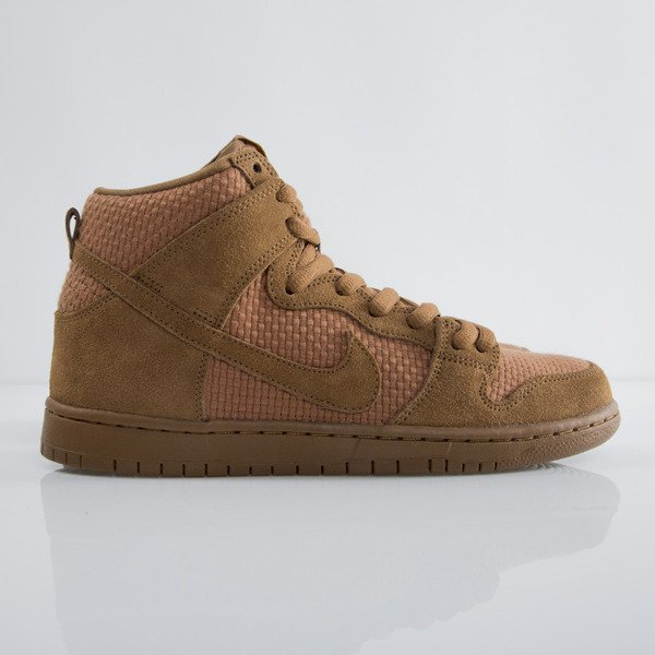 Sneakers buty Nike SB Dunk  High Premium SB ale brown / ale brown - tr yellow (313171-227)