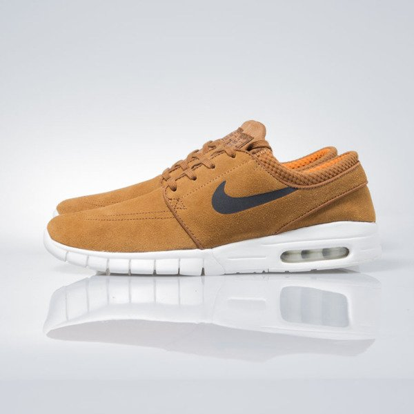 Sneakers buty Nike SB Stefan Janoski Max Leather hazelnut / black-ivory 685299-201