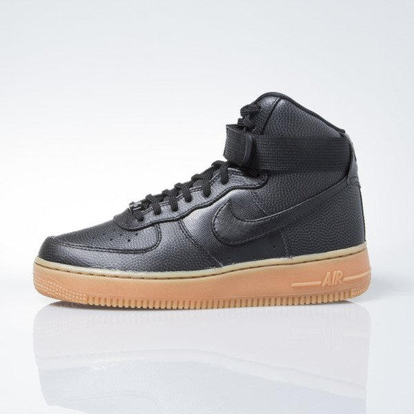 Sneakers buty Nike WMNS Air Force 1 Hi Se black / black-dark grey (860544-002)