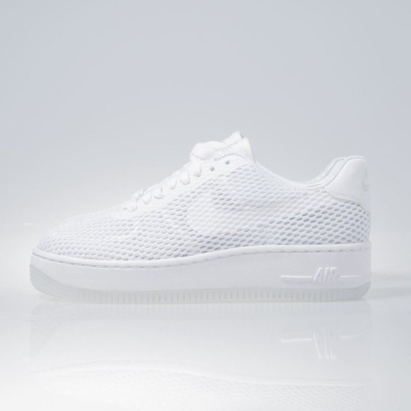 Sneakers buty Nike WMNS Air Force 1 Low Upstep BR white white (833123-100)