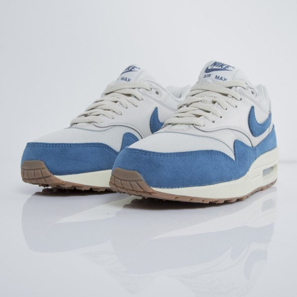 Sneakers buty Nike WMNS Air Max 1 light bone / brigide blue - gum medium brown  (599820-019)