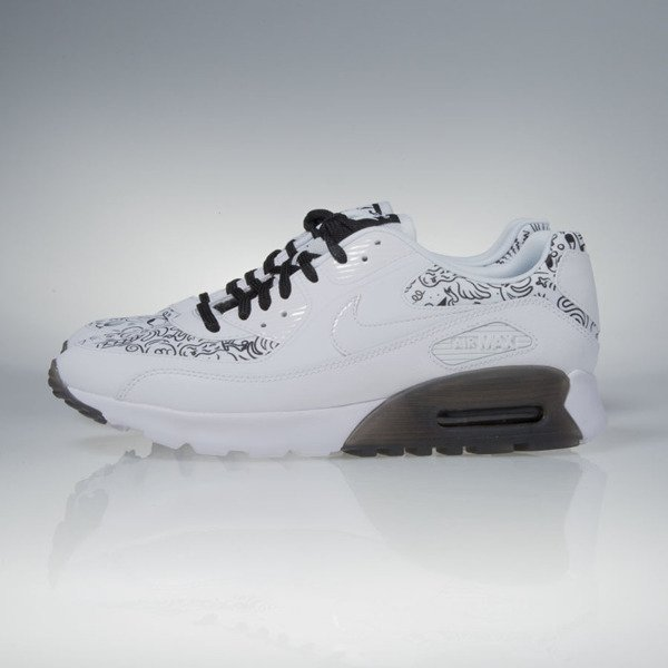 Sneakers buty Nike WMNS Air Max 90 Ultra Print white / white-black (833339-101)