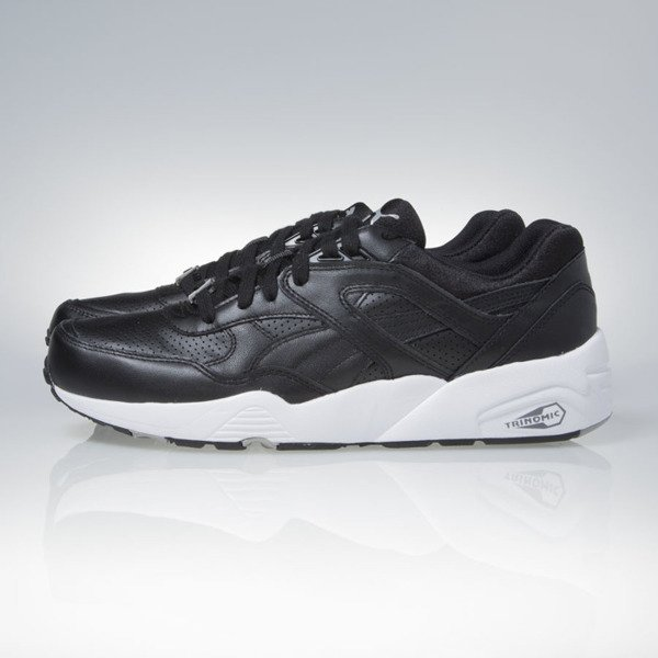 Sneakers buty Puma R698 Core Leather black-black-drizzle (360601-02)